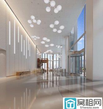宁波蝶缘路与泰安西路交叉口创意设计大厦200平米精装修出租