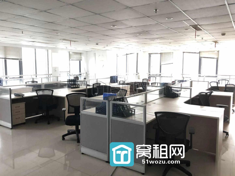 华宏第五大道322平精装修3面采光带全套办公家