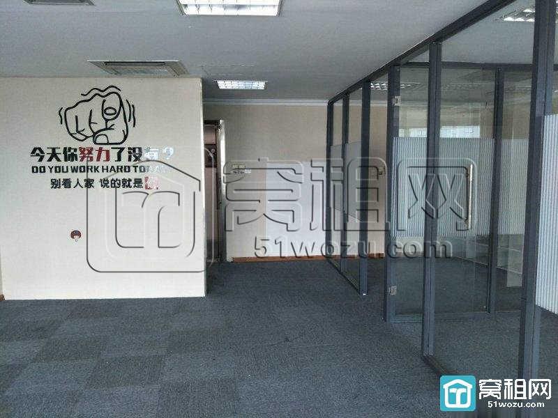 宁波市中心东渡路55号华联写字楼112平精装带隔间办公室出租