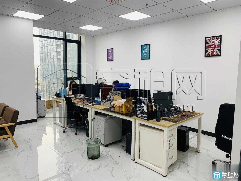 宁波甬邦大厦电梯口位置135平户型方正朝南两隔间出租