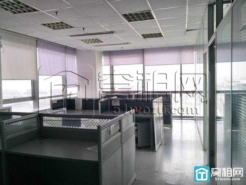 宁波火车站附近月湖银座217平精装三面采光带家具写字楼出租