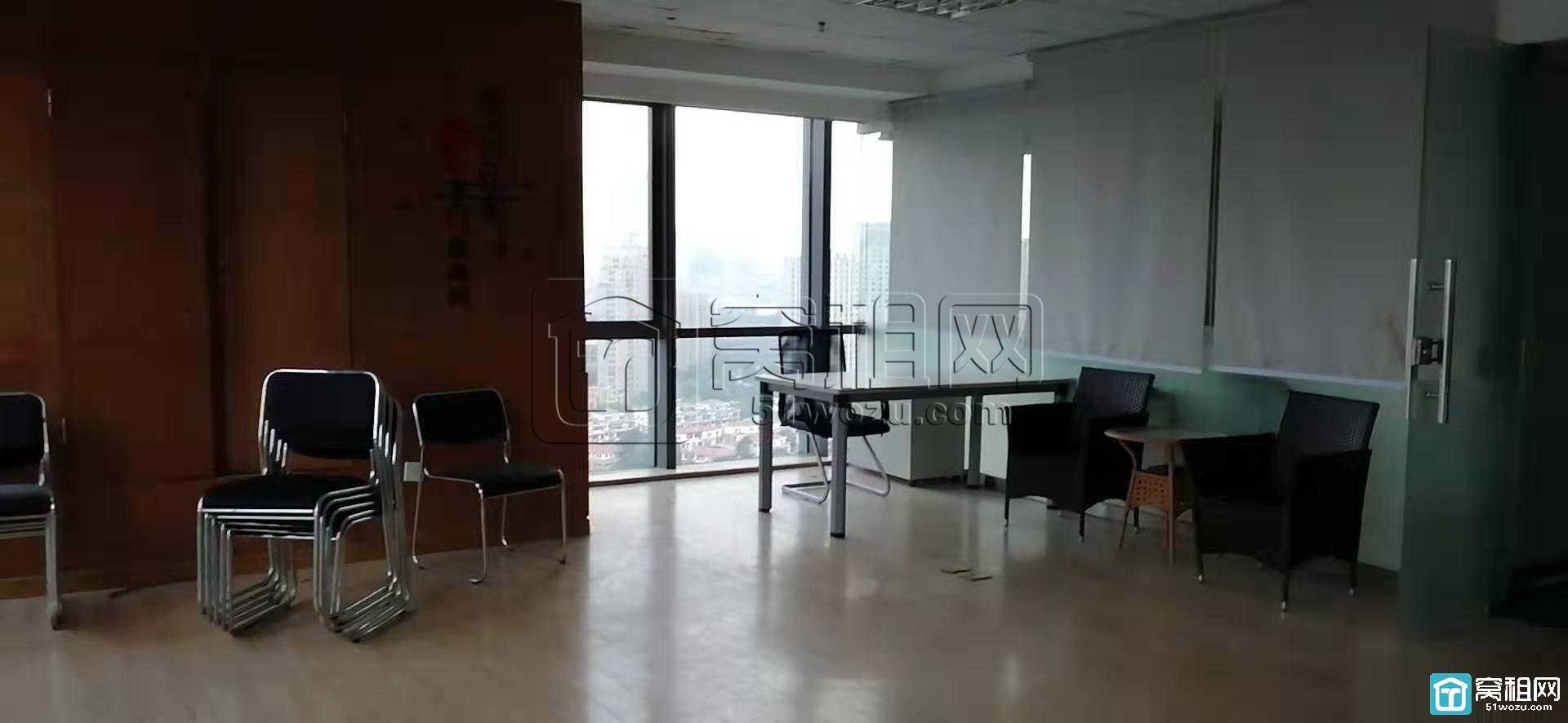 宁波高新区皇冠大厦322平带隔间全景落地窗出租