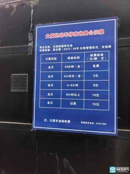 宁波天润商座物业停车收费多少一个小时?