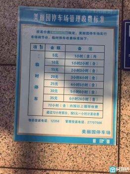 宁波美丽园大厦物业停车收费标准是多少?