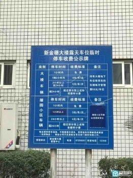 宁波海曙区恒隆中心对面的新金穗大厦停车收费