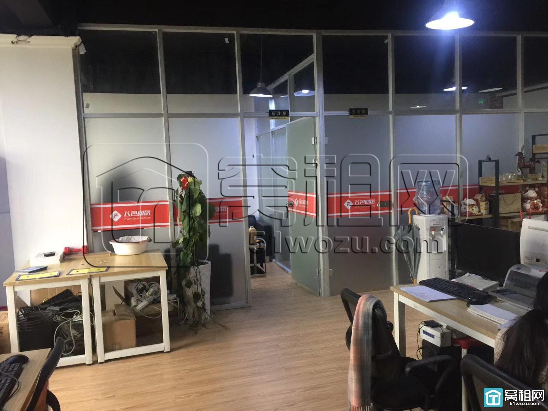 宁波世贸中心对面江厦银座158平6800元工业风带两个隔间出租