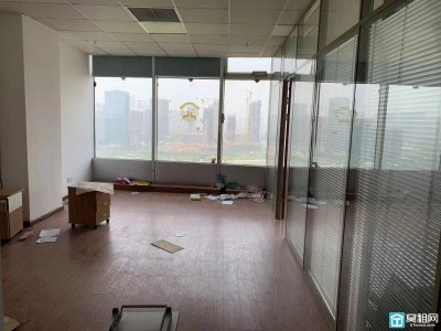 宁波微软大厦118平两个隔间带形象墙出租