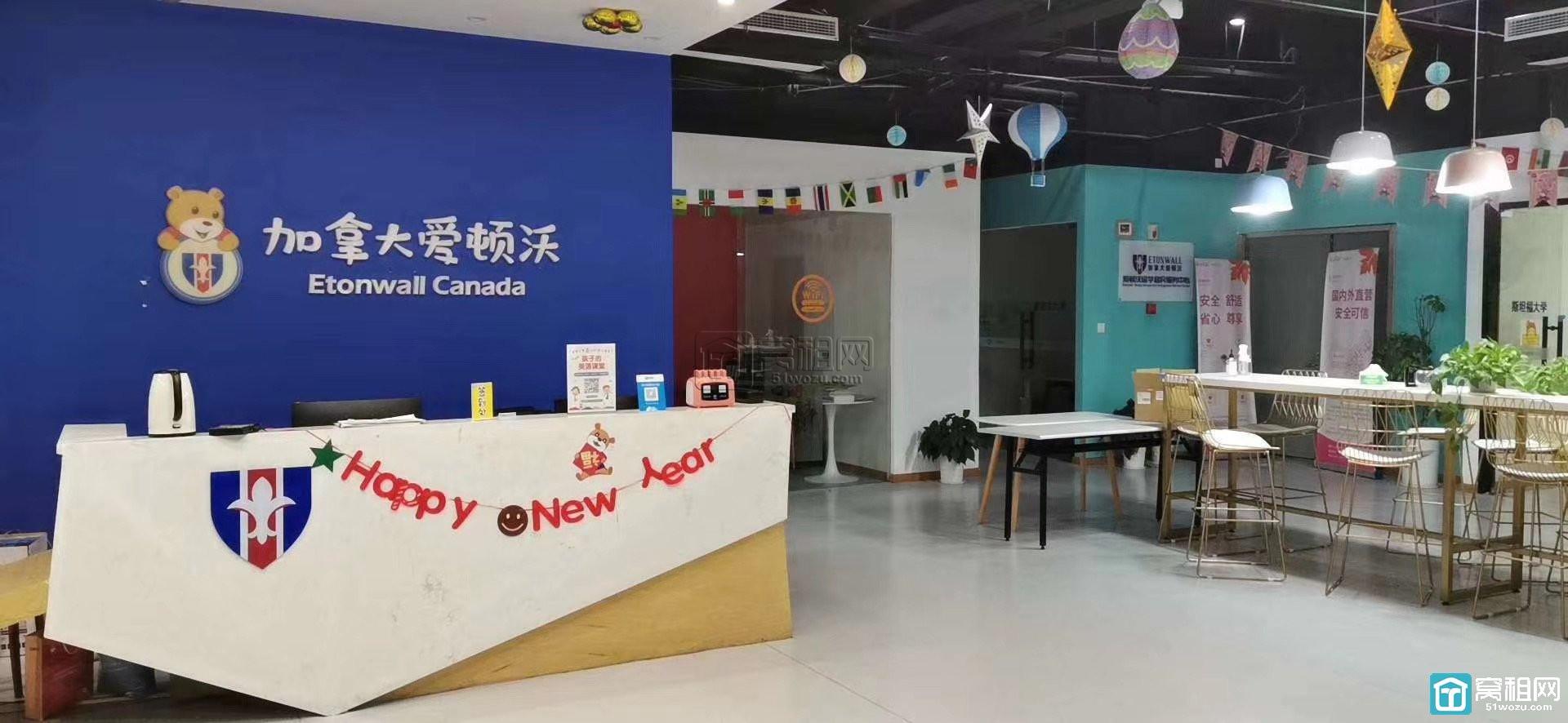 宁波万达附近新贵酒店东首半层面积1060平出租适合教育培训装修