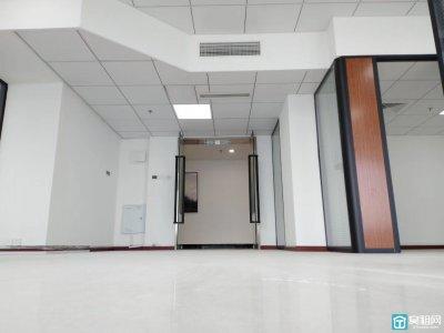 宁波地铁4号线出口南苑饭店150平方办公室落地窗出租