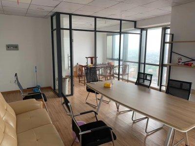高新区皇冠大厦75平米办公室双面采光出租