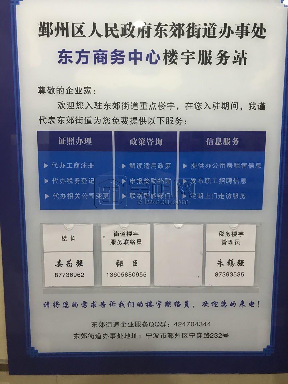 宁波东方商务中心属于哪个街道管辖?