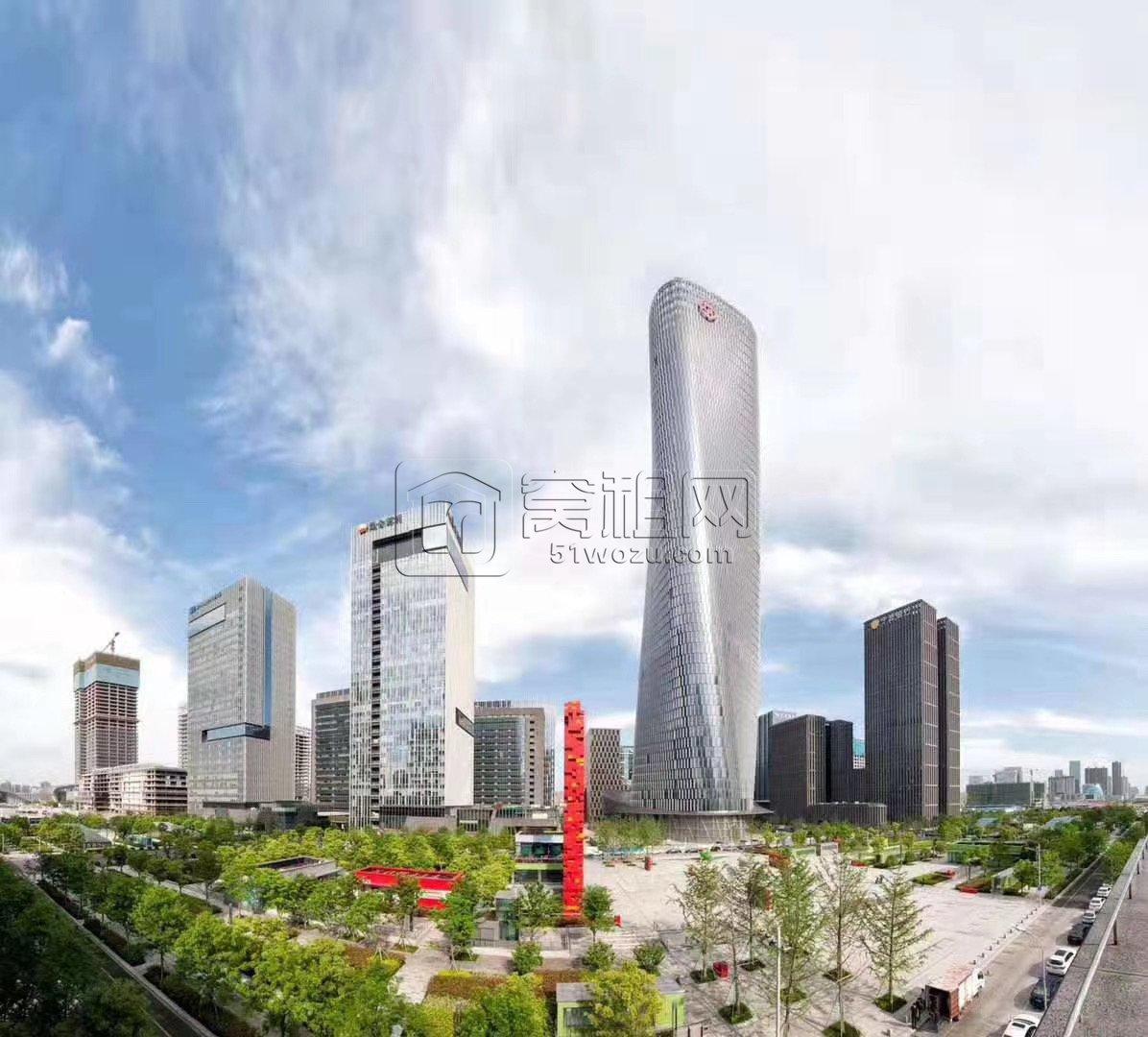 宁波东部新城地标中银大厦209平写字楼出租