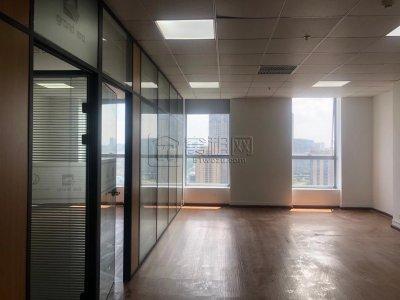 直租慧和大厦20楼办公室120平朝2个隔间带家具