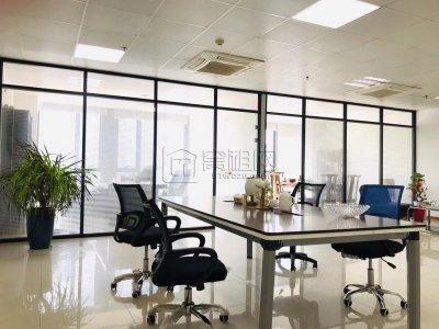 恒业大厦150平办公室出租朝南落地窗