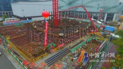 """宁波中心大厦""""浮出地面"""" 计划2023年结顶"""