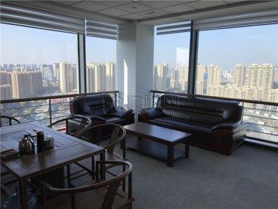 鄞州区滨江商业广场1期350平米办公室精装修带家