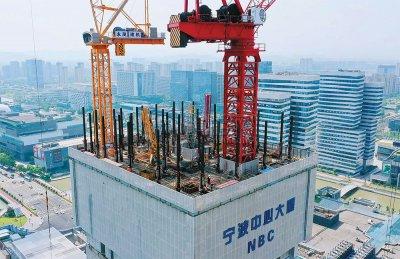 宁波中心大厦高度破百米