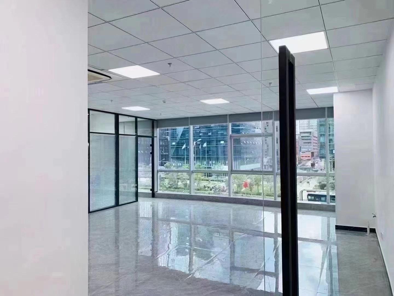 南部商务区侨商大厦精装182平办公室西南落地窗无遮挡